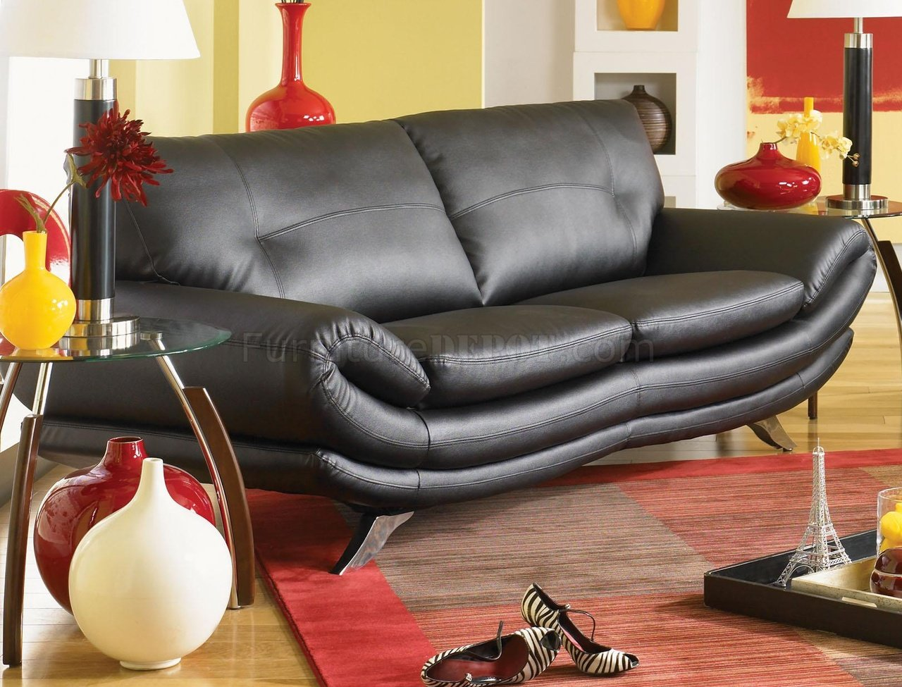 Contemporary Living Room U334 Black