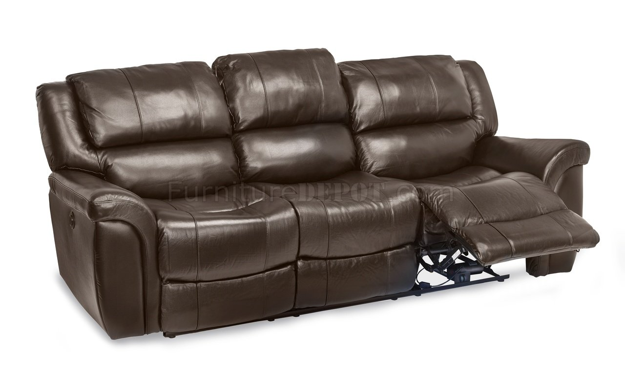 Awe Inspiring Dawson Power Reclining Sofa Set In Brown Leather Match Dailytribune Chair Design For Home Dailytribuneorg
