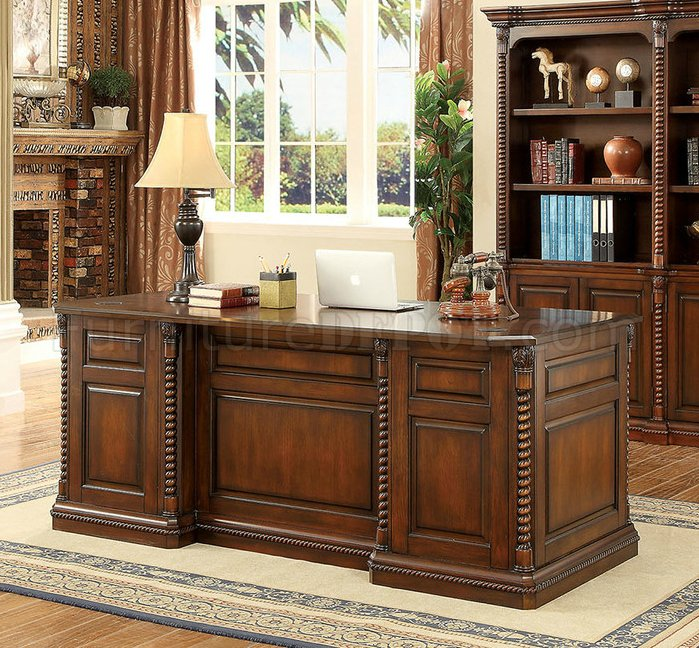 Vicki Traditional Writing Desk CM DK6380 In Dark Oak W Options