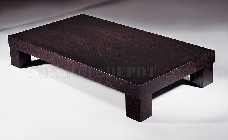 Modern Coffee Table In Wenge Finish