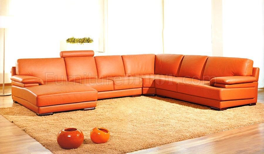full italian top grain leather modern sectional sofa 2227