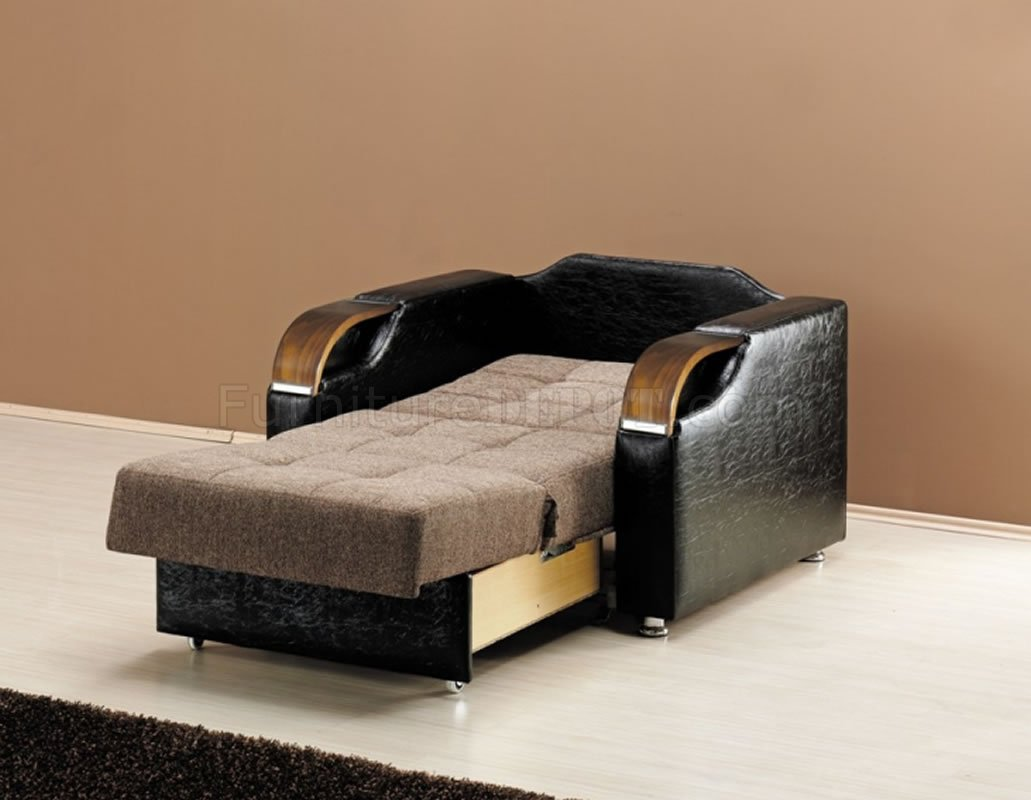 Caprio pull out loveseat bed in brown chenille fabric w options Loveseat with pullout bed