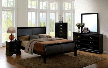 Louis Philippe Iii Cm7866bk 5pc Bedroom Set In Black W Options Fabs