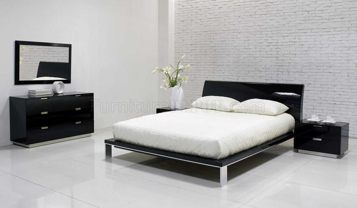 Lily Bedroom By J Amp M Black High Gloss Finish