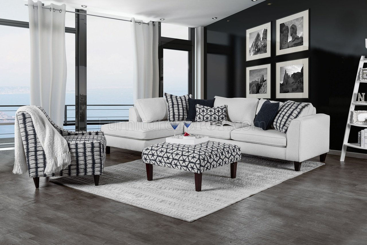 . joya sectional sofa sm in offwhite fabric woptions