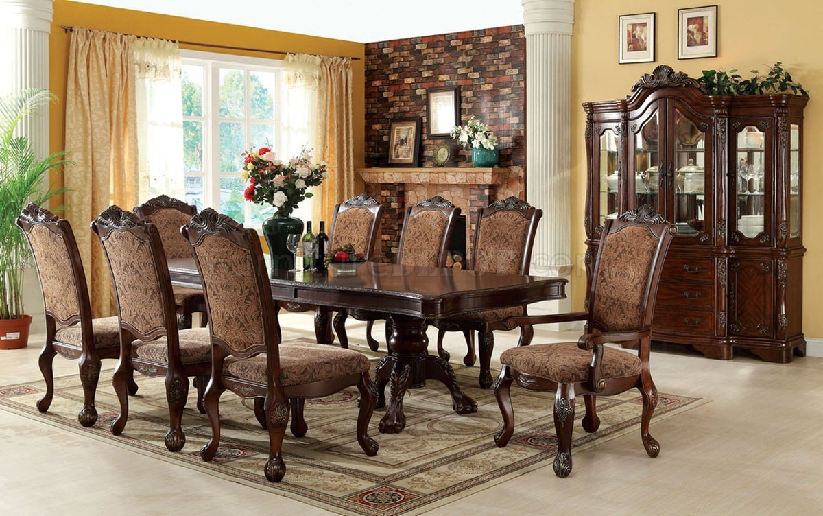 Cm3103t Cromwell Dining Table In Antique Style Cherry W Options