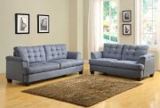 St. Charles 9736 Sofa - Homelegance - Blue Grey Fabric w/Options