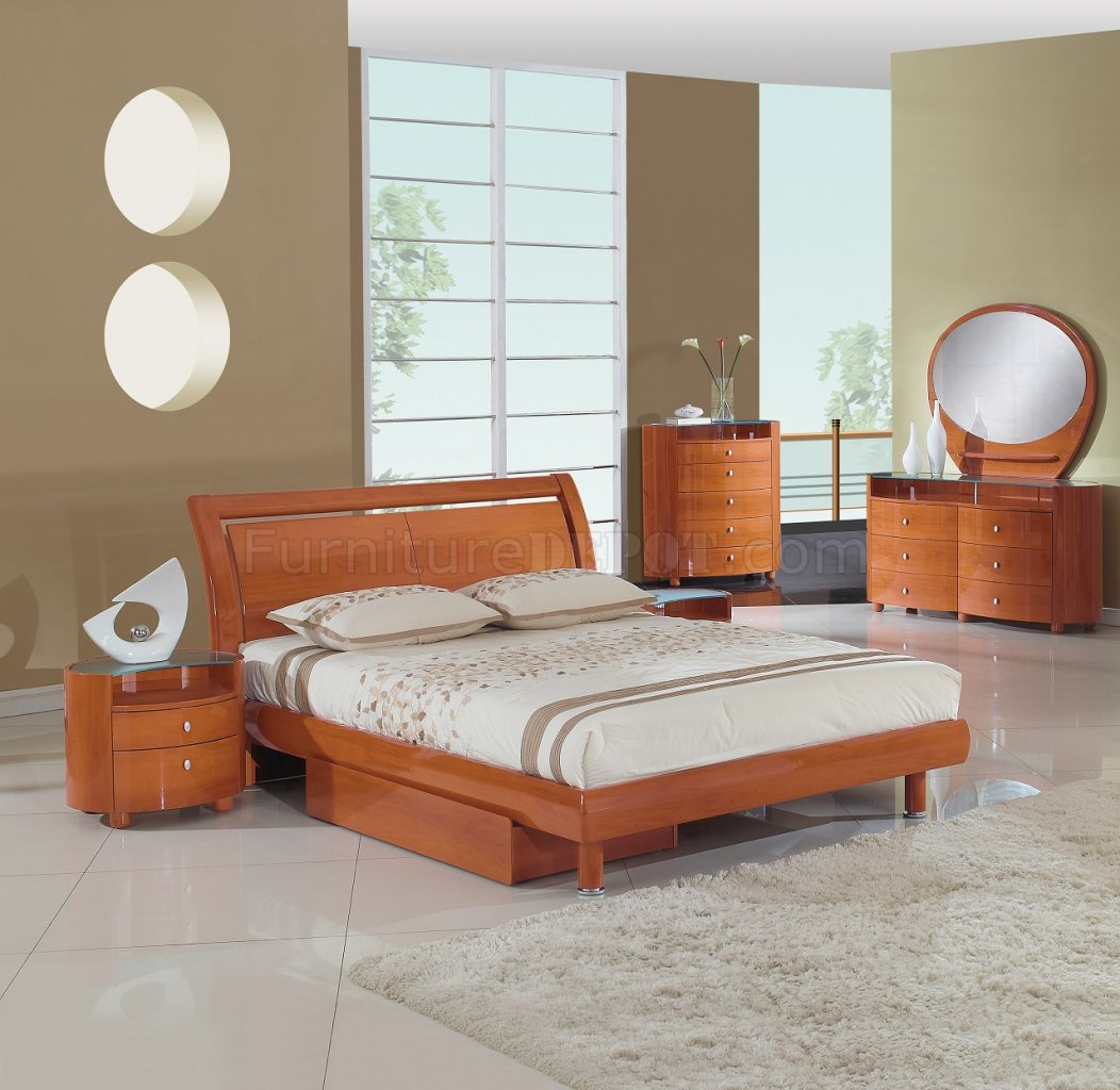 Emily Bedroom In Cherry By Global Furniture USA W/Options