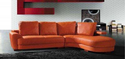 Modern Sectional Sofa 7 Orange