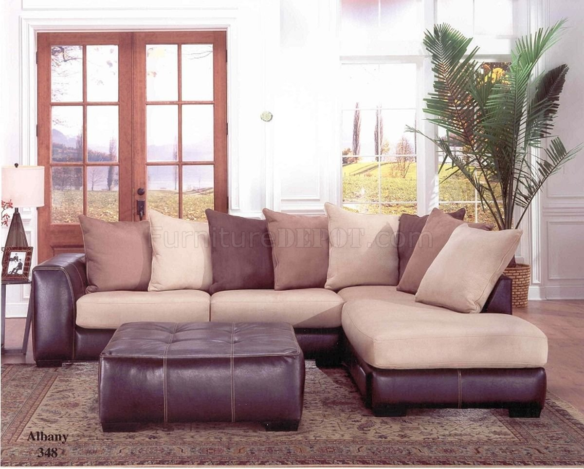 Leather And Cloth Sectional Sofas | Baci Living Room