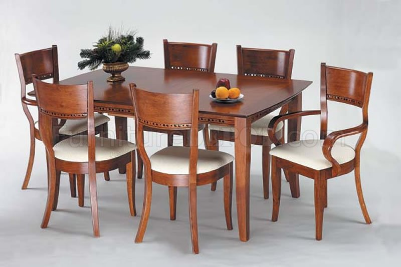 Cherry Color Modern Dining Table W/Optional Chairs
