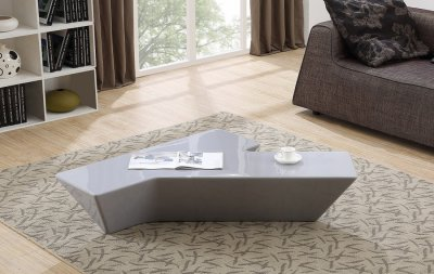 Eiffel Coffee Table In High Gloss Grey Or White By J Amp M