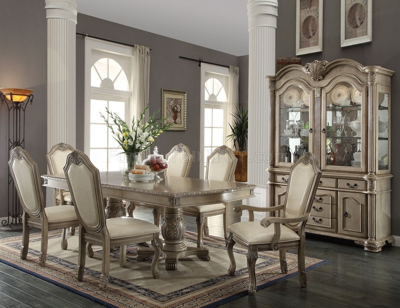 Modern formal dining room sets - Chateau De Ville 64065 Dining Table By Acme W Options