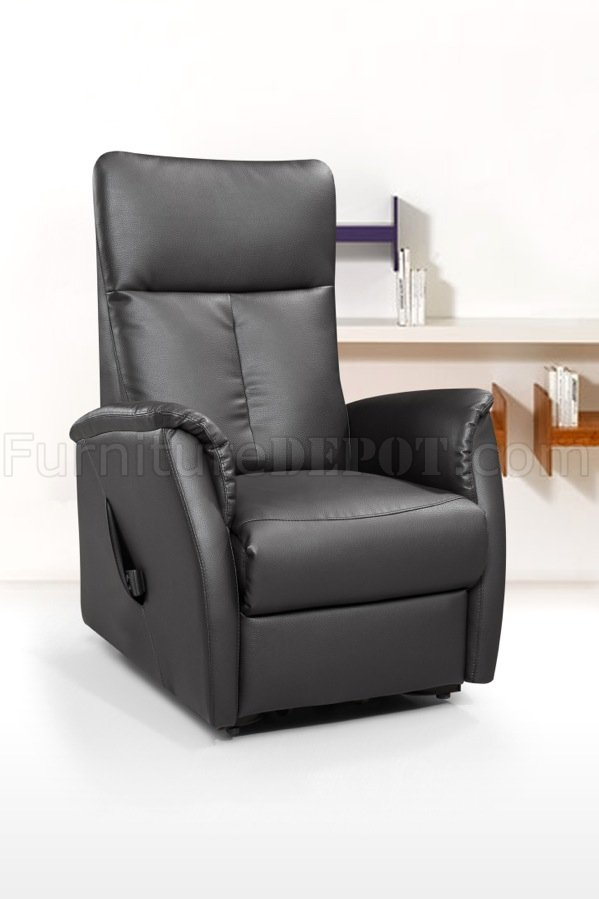113r power lift chair in black bonded leather by american eagle aerc