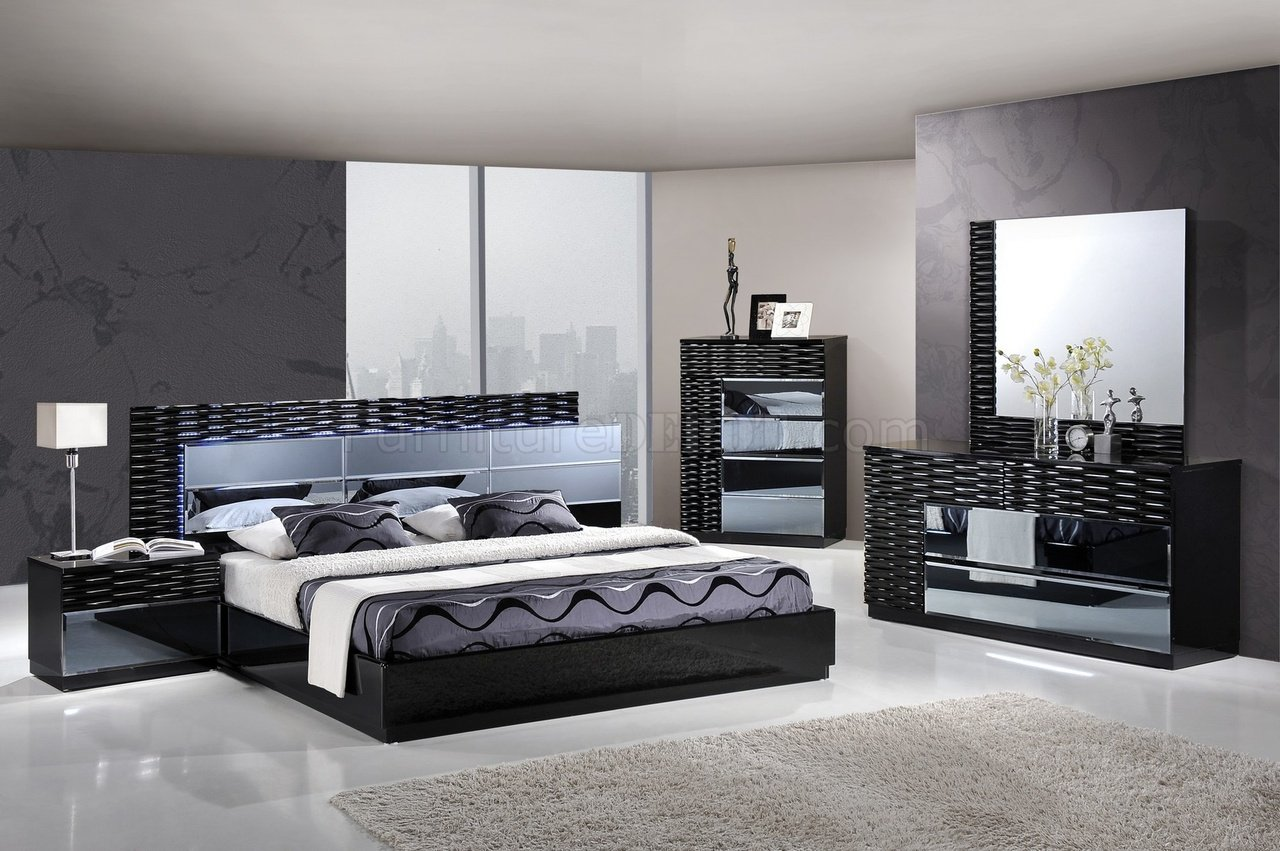 Gentil Manhattan Bedroom In Black By Global W/Platform Bed U0026 Options