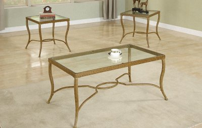 Antique Metal Furniture on Antique Gold Metal Frame Stylish 3pc Coffee Table Set At Furniture