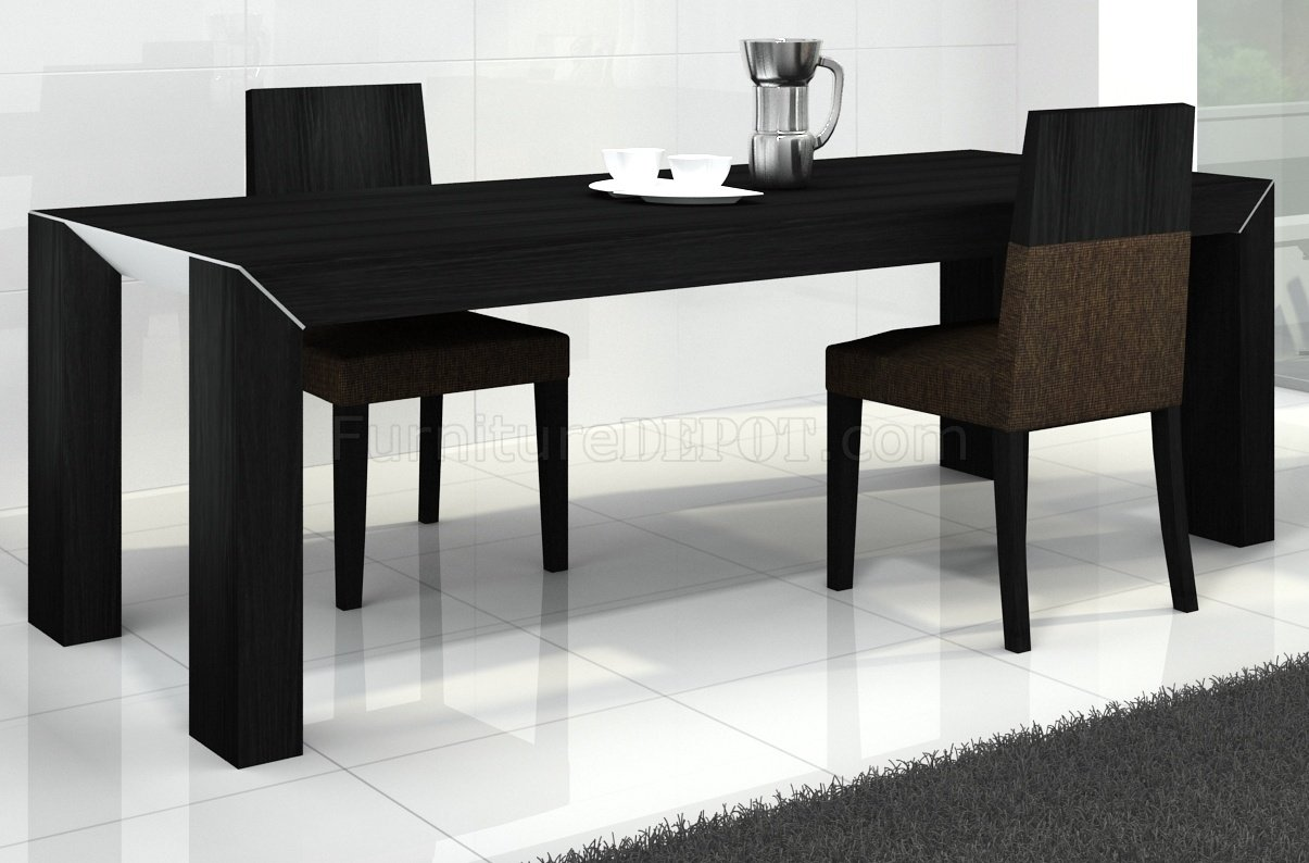 Black Oak Finish Modern Dining Table W Options