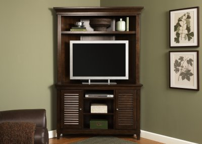 Amaretto Finish Stylish Corner Entertainment Unit