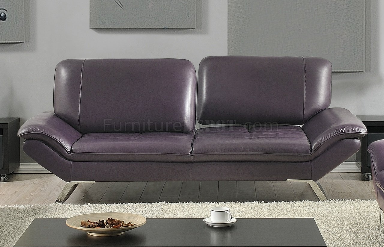 Roxi Sofa in Eggplant Full Leather by At Home USA wOptions : ccbbf04c9ec502031297d35e269e41b6image1280x825 from www.furnituredepot.com size 1280 x 825 jpeg 209kB