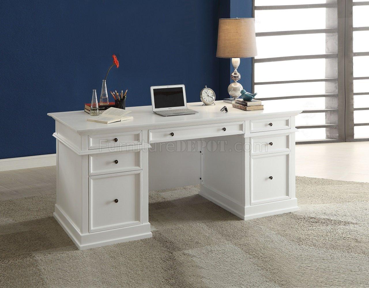 Daiki 92255 Office Desk in White by Acme