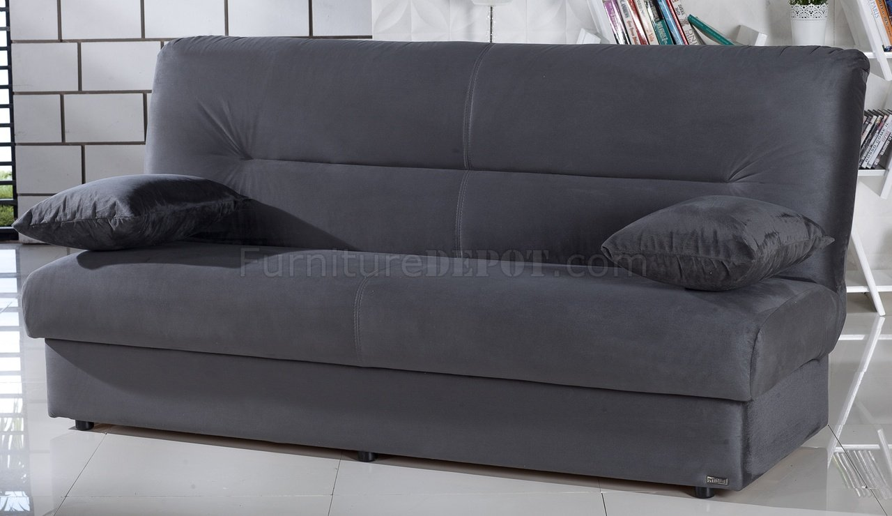 Regata Sofa Bed In Rainbow Dark Gray Fabric By Istikbal