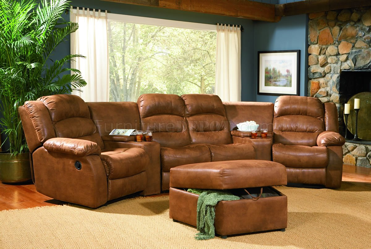 Rust Specially Treated Microfiber Home Theater Seats W