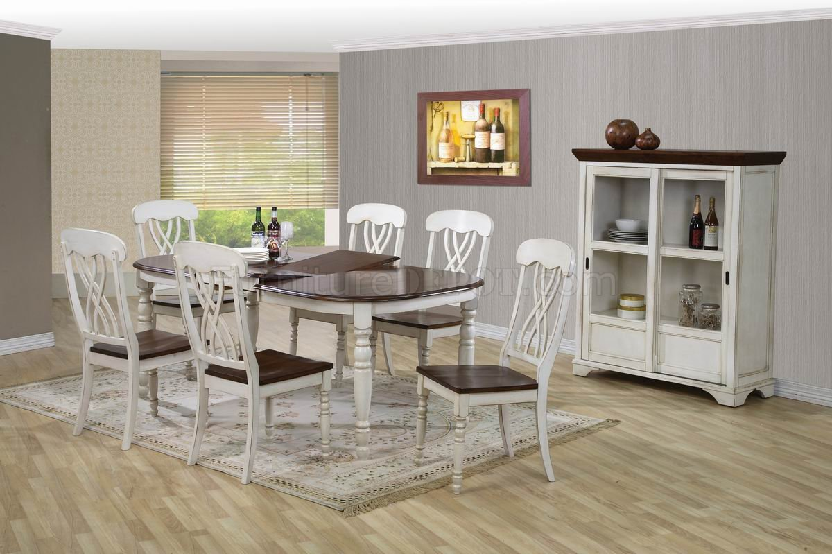 white walnut two tone finish modern 5pc dining set w options. Black Bedroom Furniture Sets. Home Design Ideas