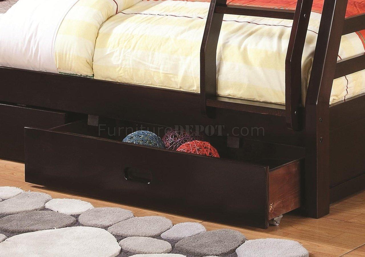 Ashton 460184 Bunk Bed In Cappuccino By Coaster