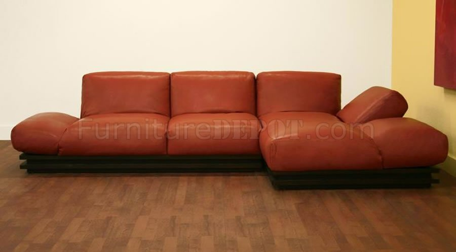 Alf Img Showing gt Burnt Orange Sectional