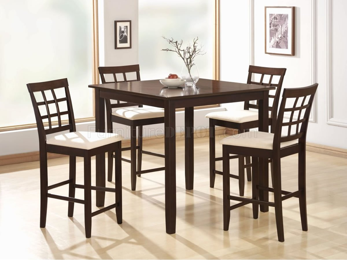 Finish 5 PC Counter Height Dining Set W Square Table CRDS 111 150085