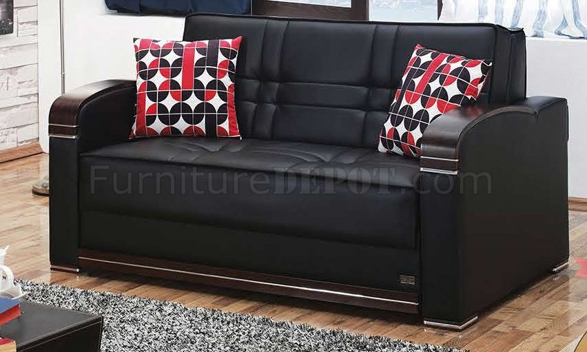 Bronx Sofa Bed in Black Leatherette wOptional Loveseat  : d13f2876ced6257b871160a92bd3af8eimage852x511 from www.furnituredepot.com size 852 x 511 jpeg 92kB