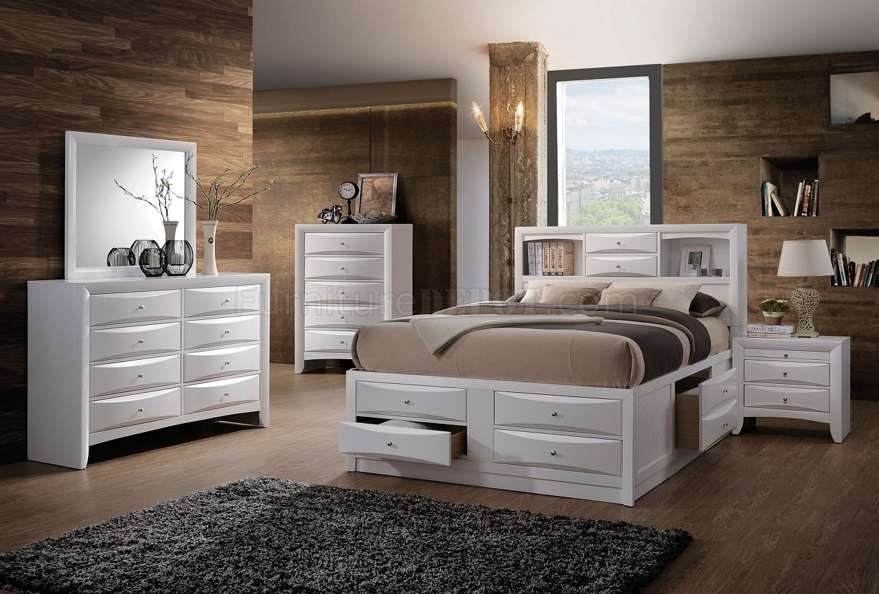 Ireland Bedroom 21700 In White By Acme W/Options