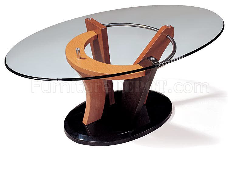 Artistic Coffee Table With Oval Glass Top GFC 354430CN