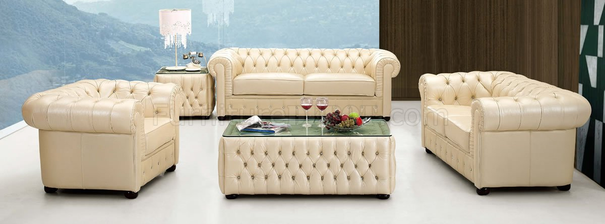 Formal Living Room Couches light beige genuine tufted leather formal living room sofa