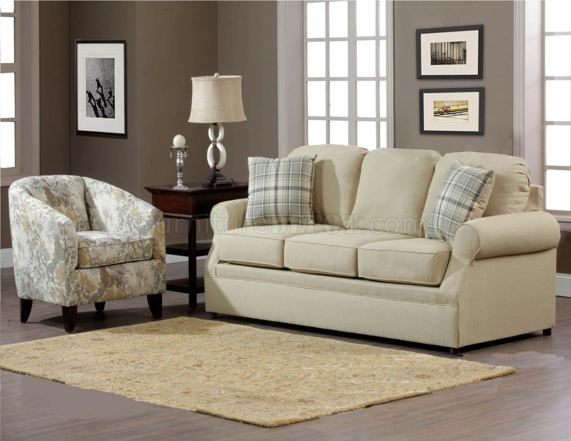 Cream Fabric Modern Sofa Amp Accent Chair Set W Options