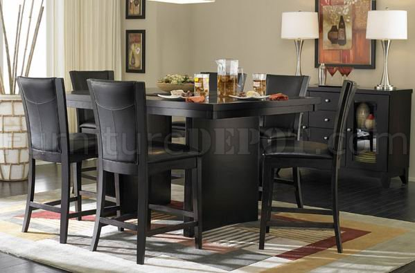 710 36sq Counter Height Dining Table Espresso W Options