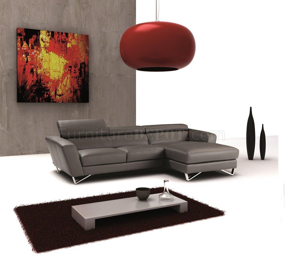 sectional sofa in dark grey full leather by j m jmss sparta mini dark