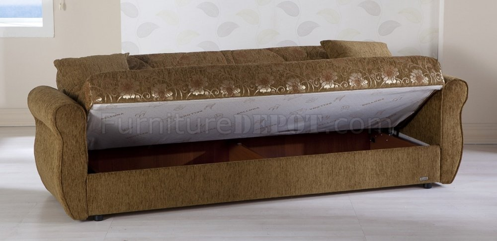 Green fabric living room storage sleeper sofa w storage for Duke sectional sofa bed w storage