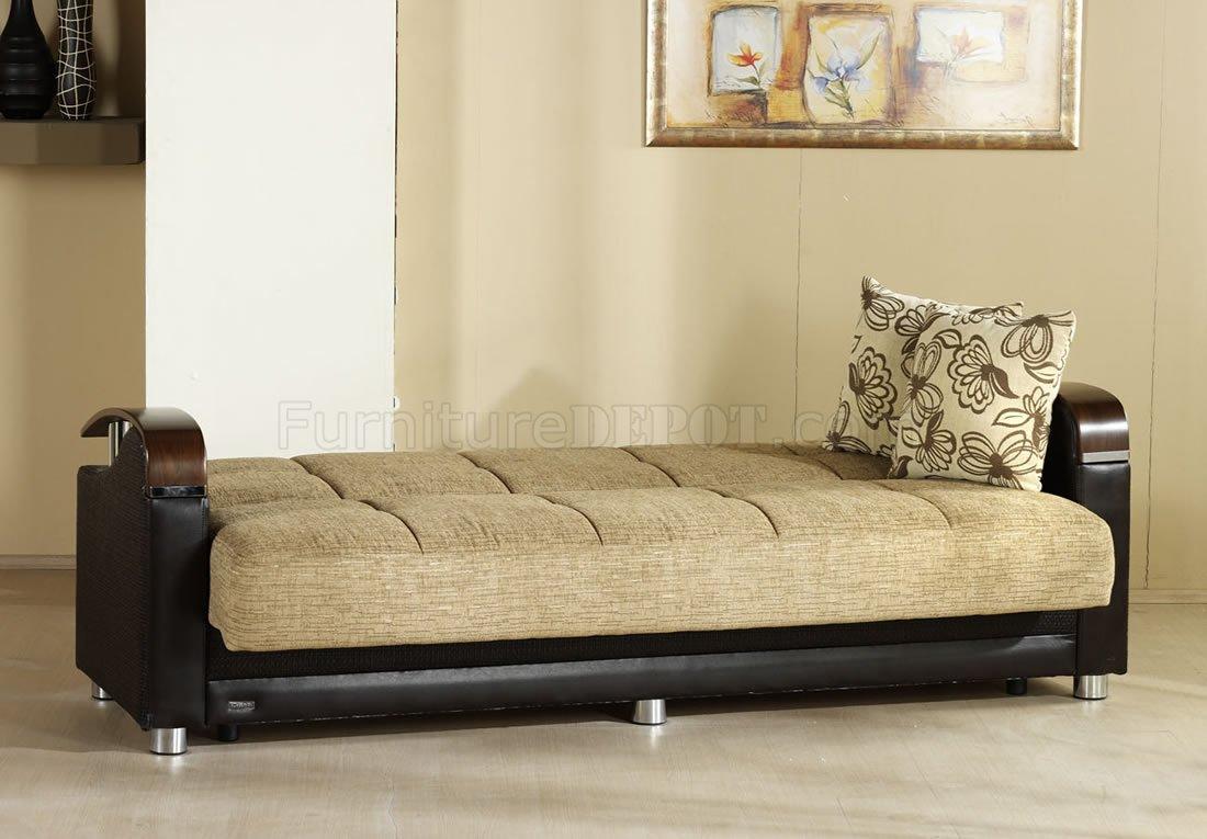 Luna Fulia Sleeper Sofa Storage In Two Tone By Istikbal