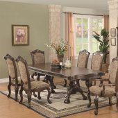 Brown Cherry Finish Traditional Dining Table w/Extension Leaf