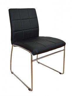 C 270 Set Of 2 Modern Dining Chairs W Metal Legs