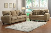 Rubin 9734BR Sofa by Homelegance in Light Brown w/Options