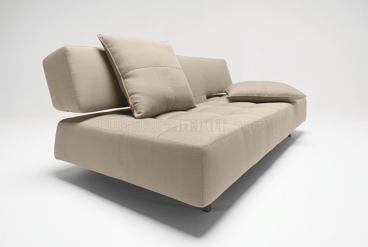 White Leather Sofa Bed Convertible Long Horn