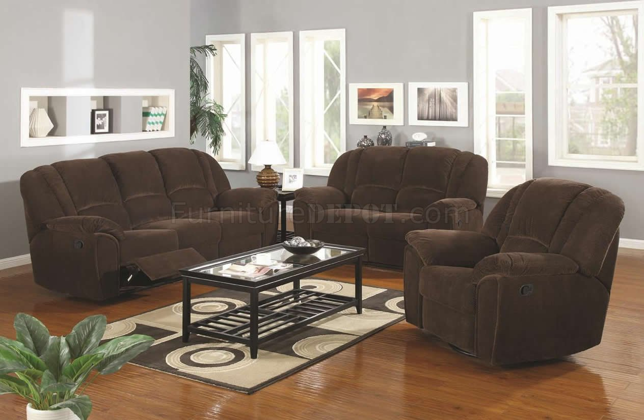 & Brown Microfiber Modern Reclining Sofa u0026 Loveseat Set w/Options islam-shia.org