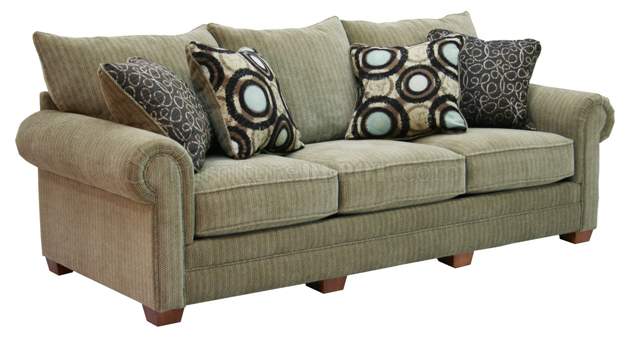 Multi Tone Chenille Fabric Modern Sofa Amp Loveseat Set W