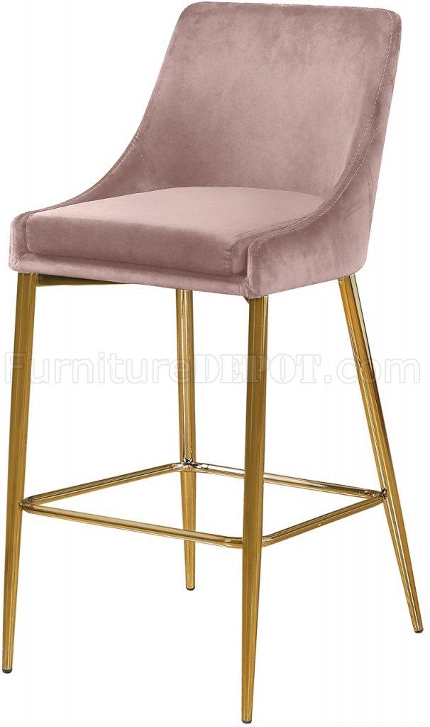 big sale 168b6 659a1 Karina Counter Stool 789 Set of 2 Pink Velvet Fabric - Meridian