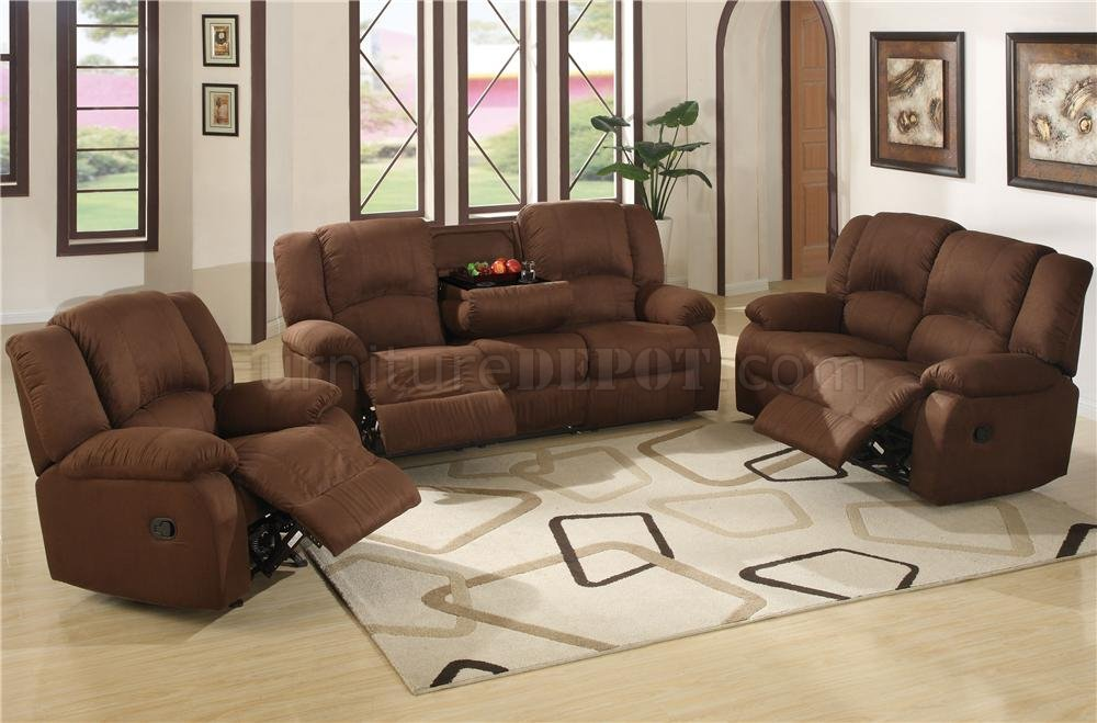 Microfiber Reclining Livng Room Kelly U752 Java