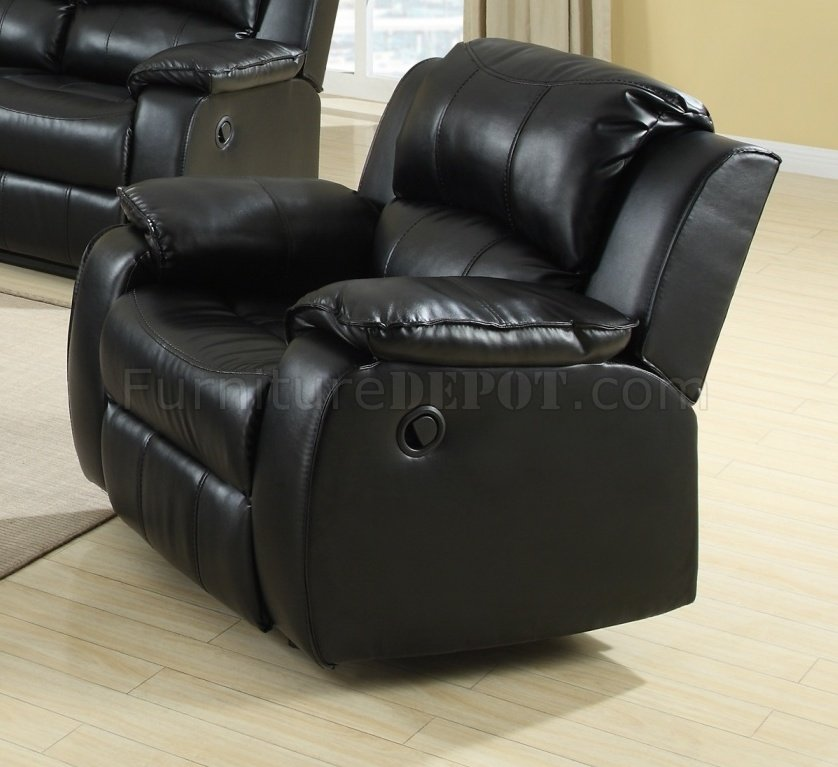 7261 power reclining sofa in black bonded leather w options egs 7261