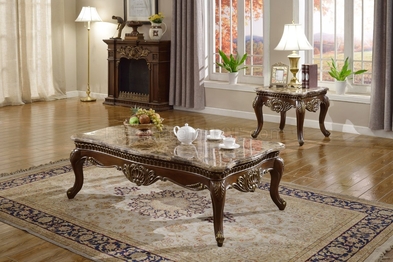 Catania 210 coffee table in dark cherry wmarble top options geotapseo Gallery