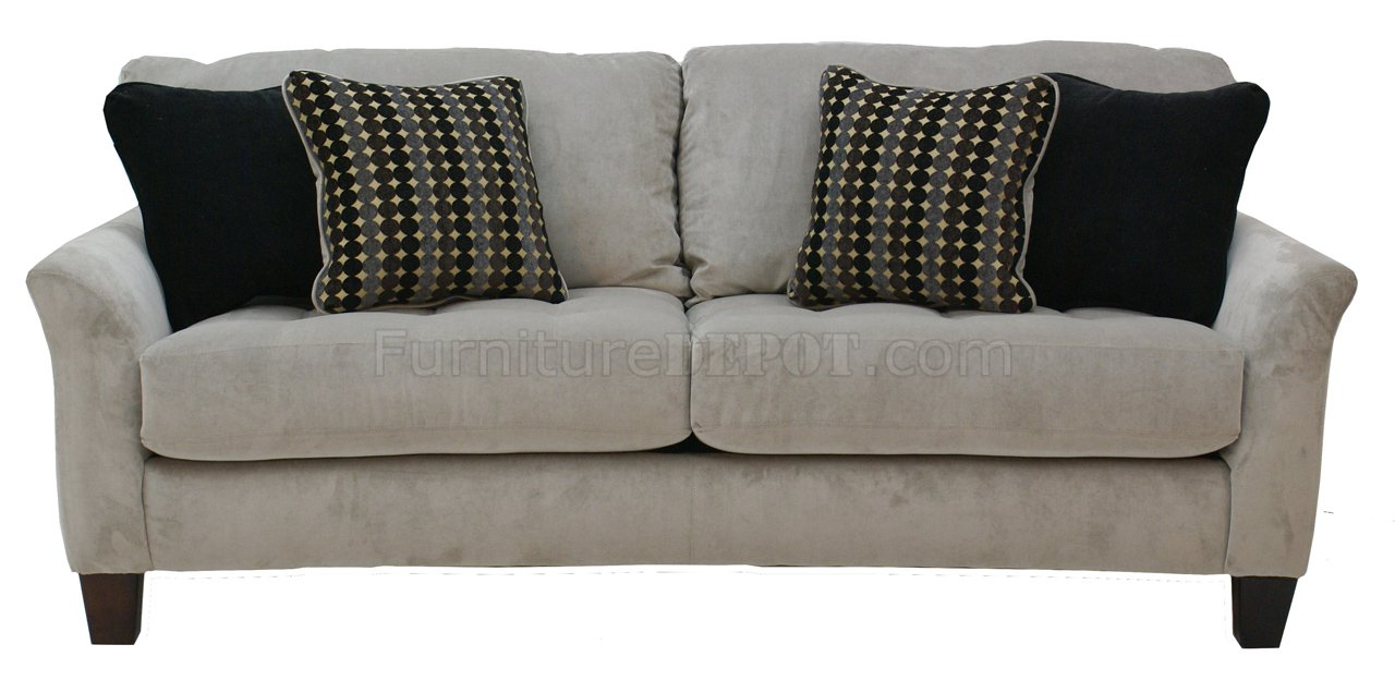 Cream fabric modern loveseat sofa set w optional items Cream fabric sofa